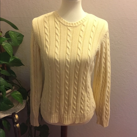 Eddie Bauer Sweaters Like New Cable Knit Sweater M Poshmark